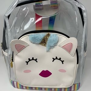 Betsey Johnson Clear PVC Kitsch backpack